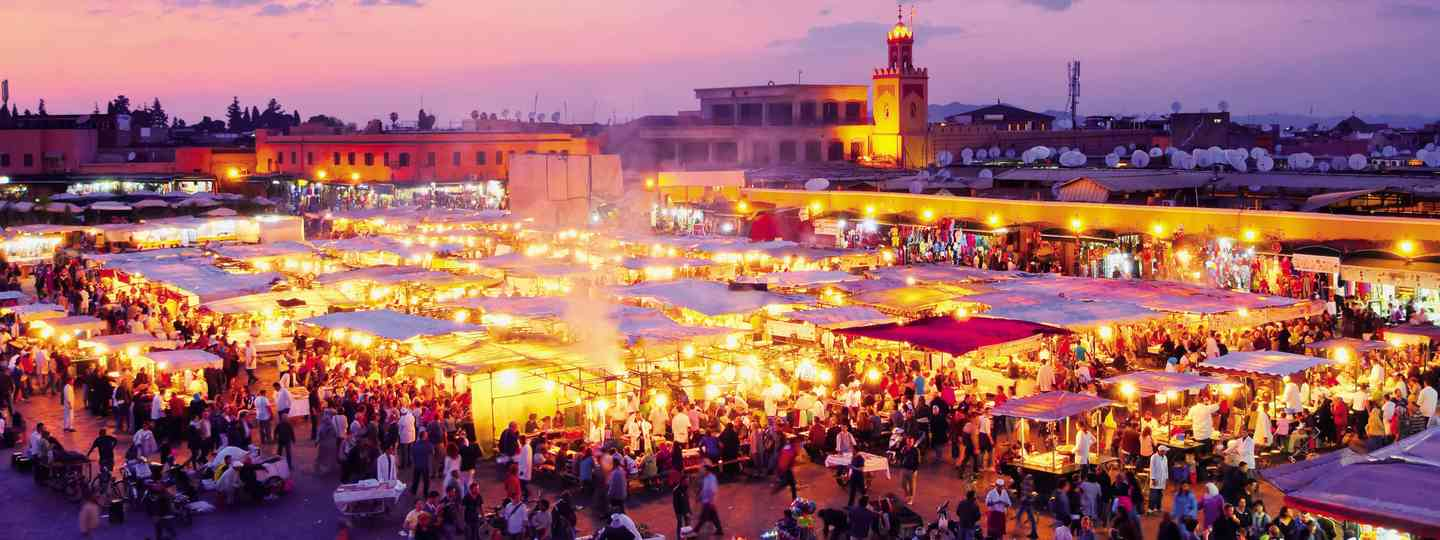 Marrakech food market (Dreamstime)