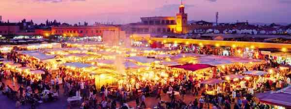 Marrakech food market (Dreamstime)