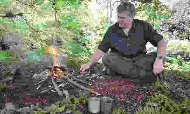 Ray Mears demonstrating survival skills (Phoebe Smith)