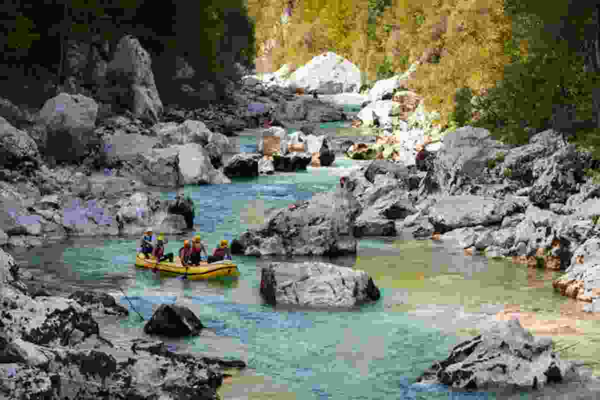 Whitewater rafting (Slovenian Tourist Board)
