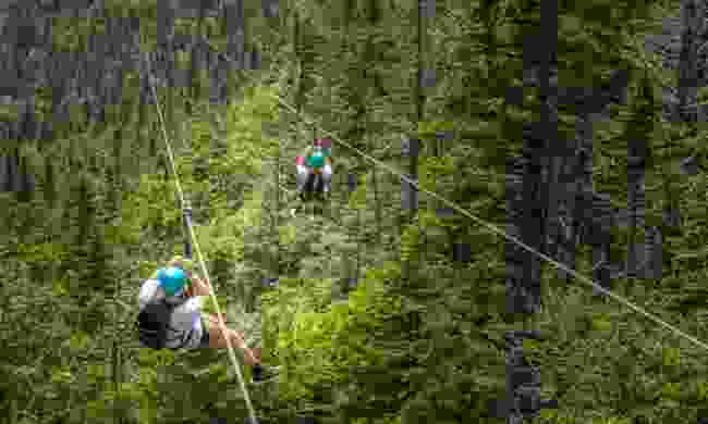 Zipline over the mountains in the Dominican Republic