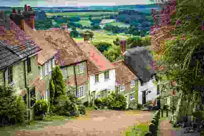 Houses on Gold Hill, Dorset (Shutterstock)