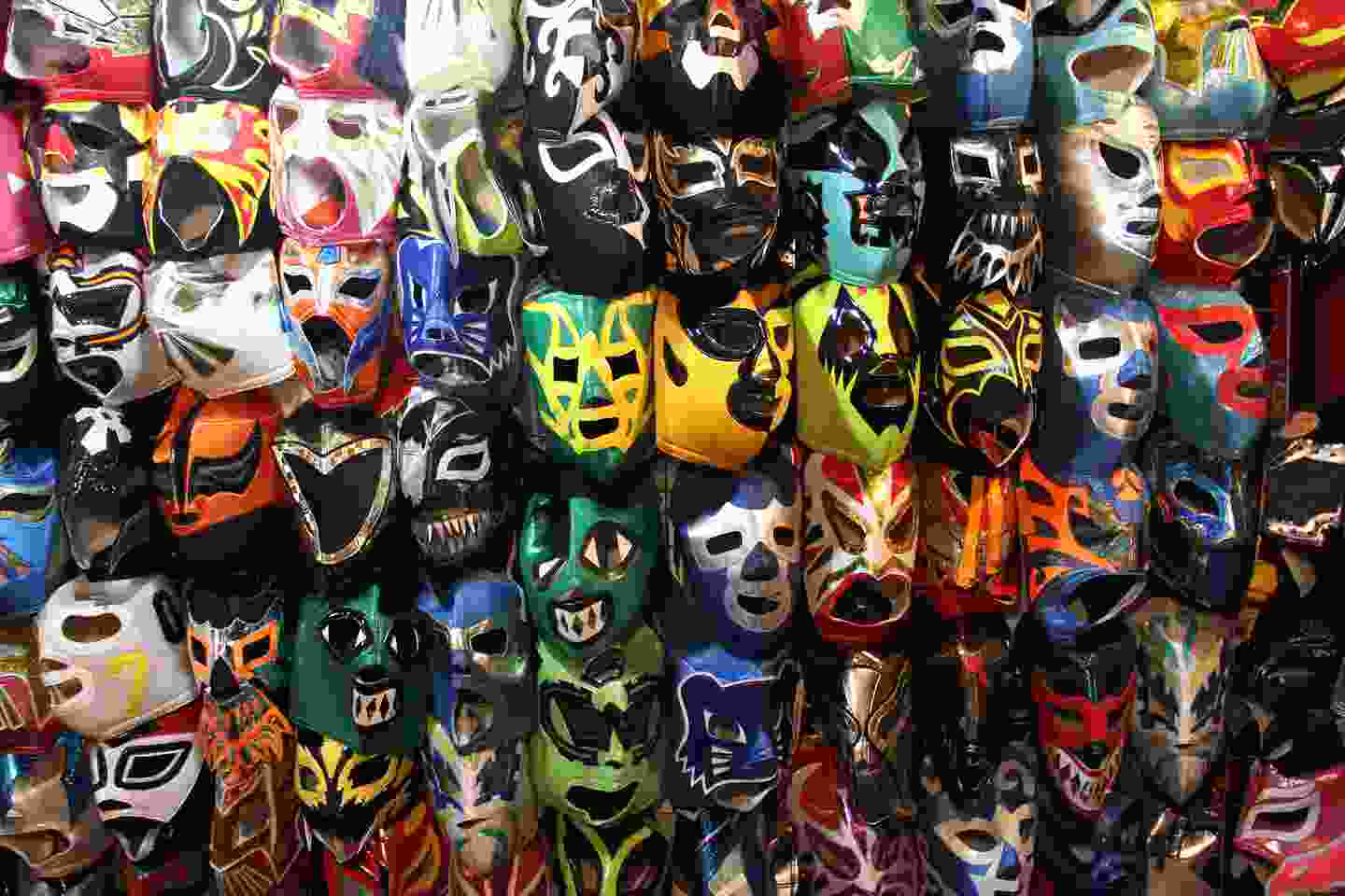 Traditional wrestling masks used by luchadores (Shutterstock)