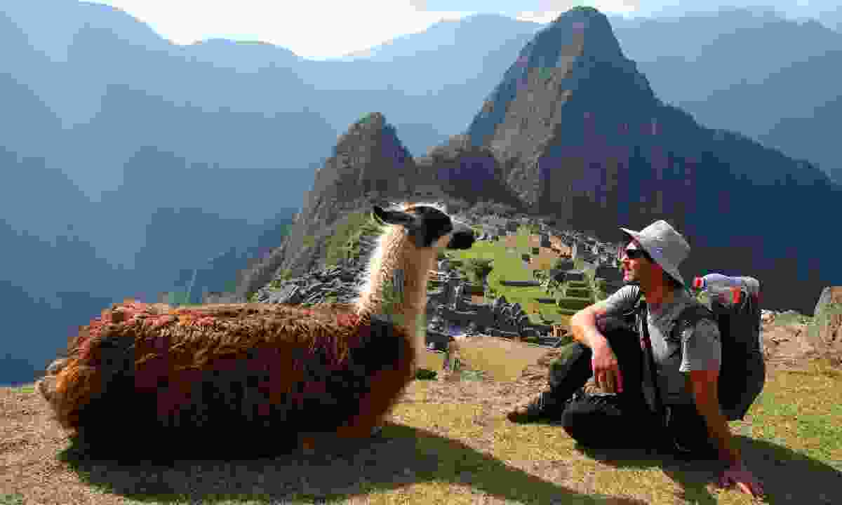 Meeting the locals at Machu Picchu (Dreamstime)