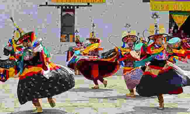 Dancers at Paro Tshechu (Dreamstime)