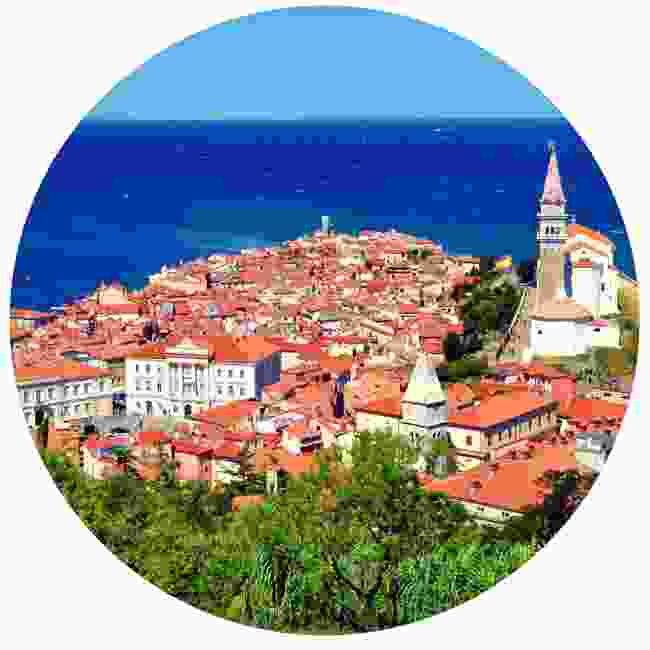 Get a sensational view of Piran's town centre from the city walls (Shutterstock)