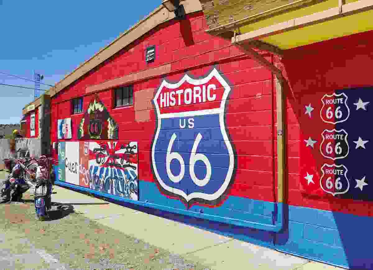 Route 66 mural (Rick Sammon)