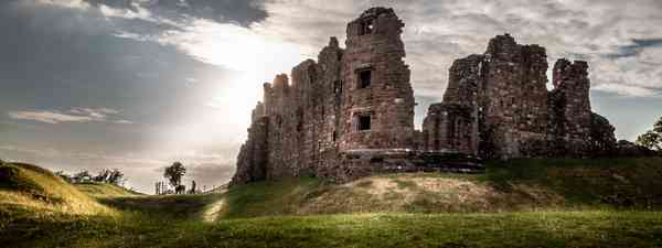 Magical gorgeous moody view of Brough Castle in Cumbria, England UK (Shutterstock)
