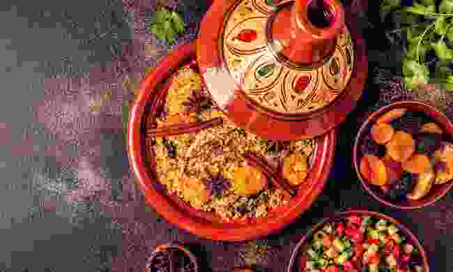 A traditional Moroccan meal (Shutterstock)