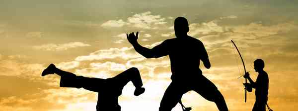 Capoeira at sunset (Shutterstock)