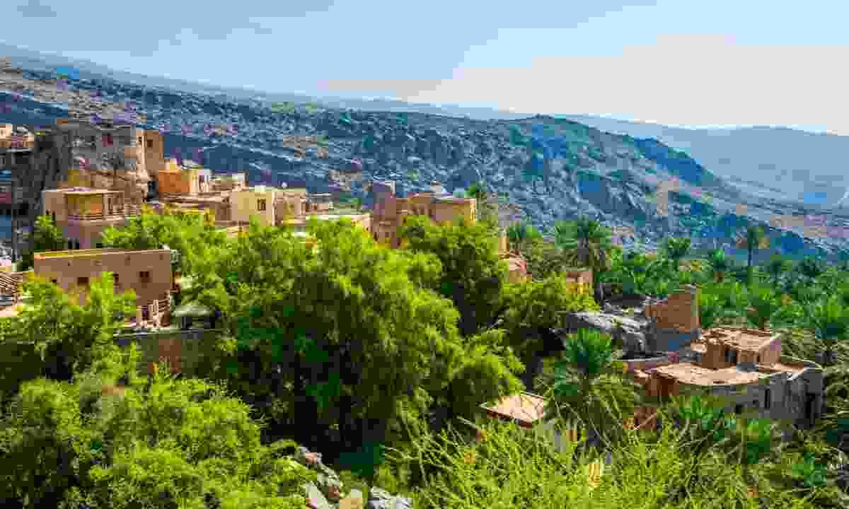 Aerial view of the Misfat Al Abriyeen village (Shutterstock)