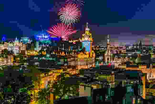 The grand finale of Edinburgh Festival Fringe is a fireworks display accompanied by live classical music (Shutterstock)