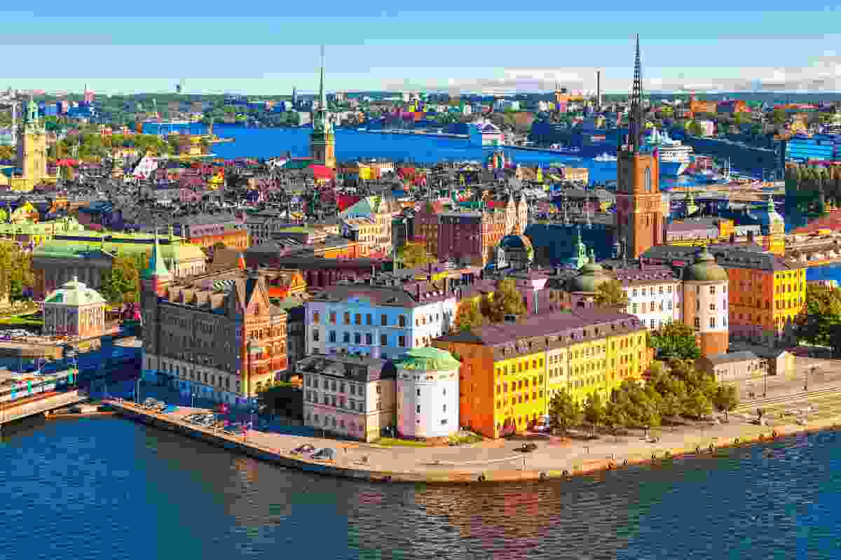 An aerial view of Stockholm, Sweden (Shutterstock)