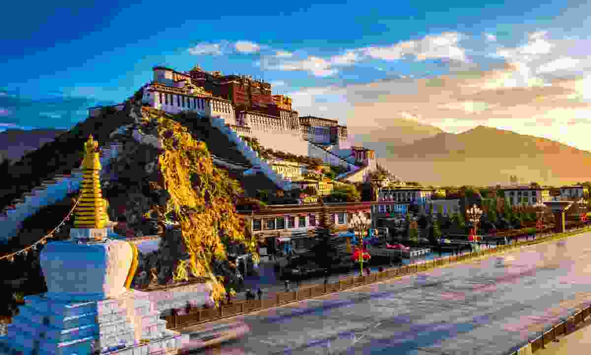 The Potala Palace in Lhasa, Tibet, is the former home of the Dalai Lama (Shutterstock)