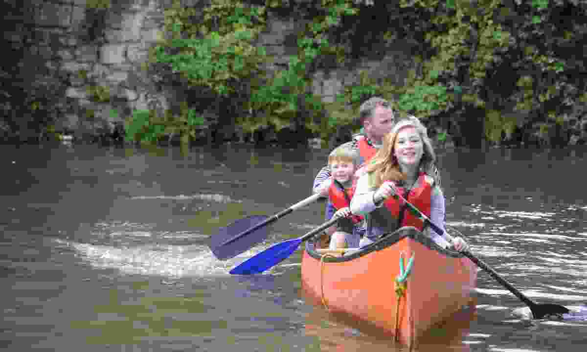Canoeing on the Leeds and Liverpool Canal (Canal & River Trust)