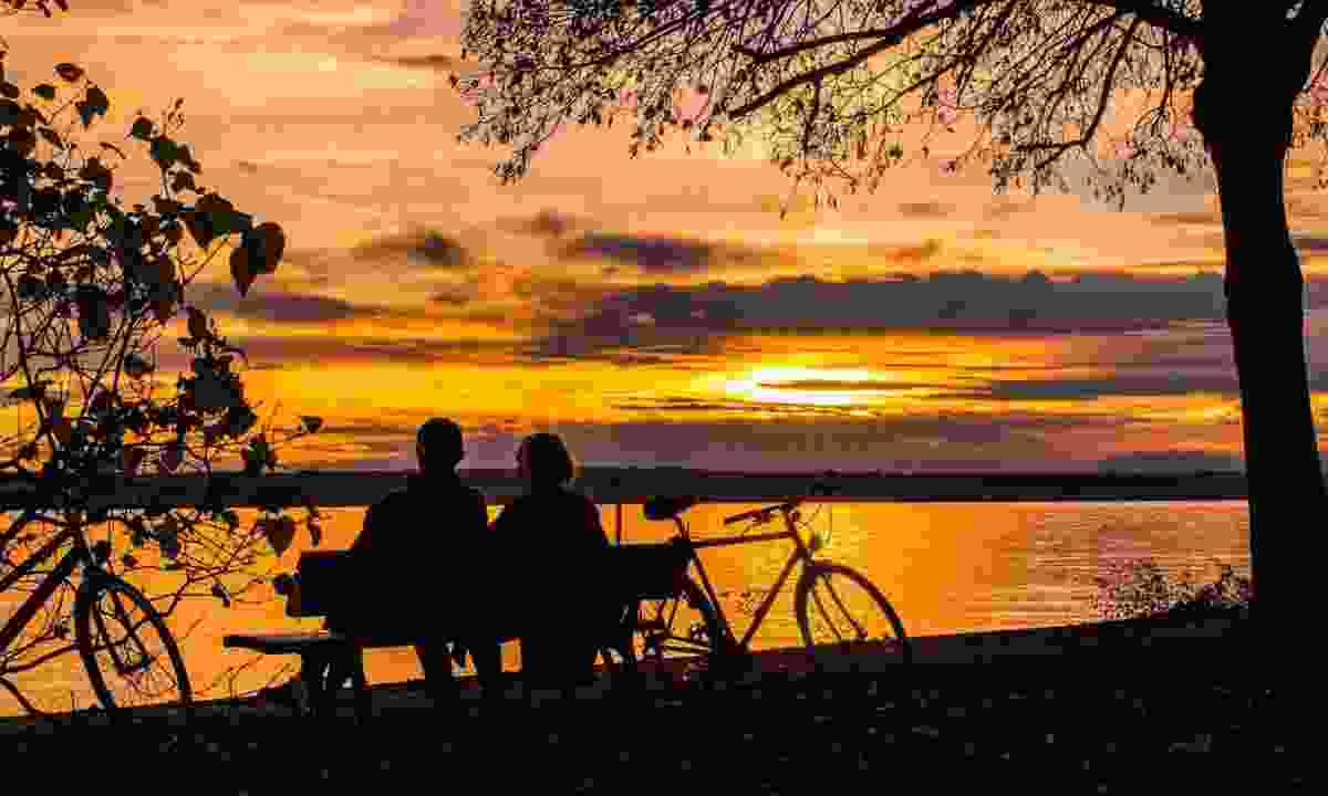 Enjoying a sunset on Lake Constance (BSpoke Tours)