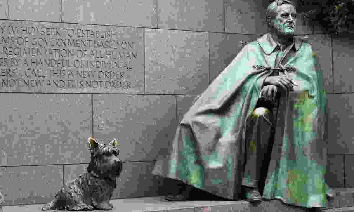 Roosevelt and Fala (Dreamstime)