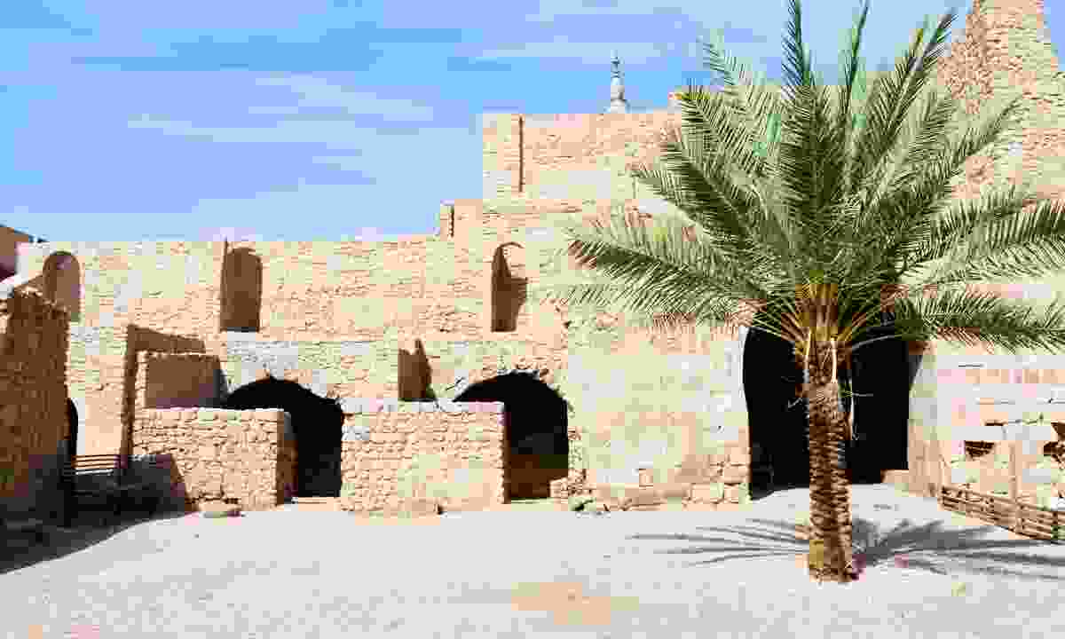 Courtyard of the medieval Mamluk fort in Aqaba (Dreamstime)