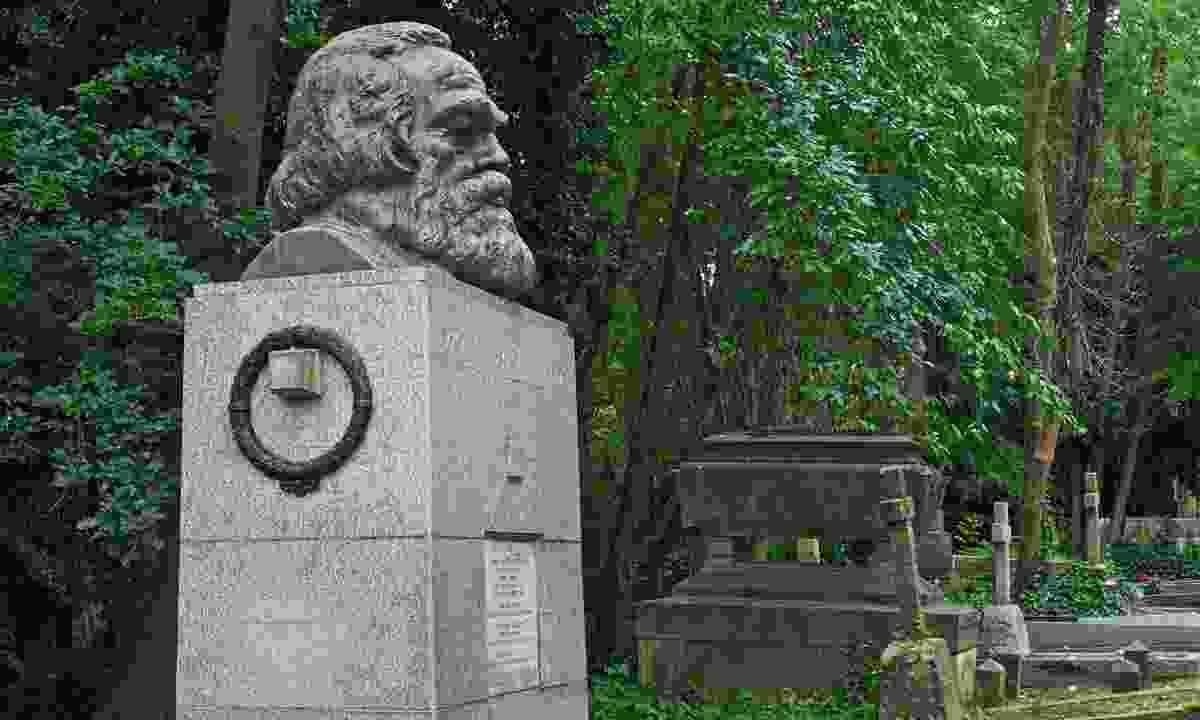 The tomb of Communist philosopher Karl Marx in Highgate cemetery (Dreamstime)