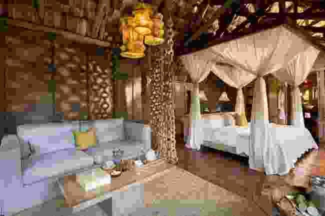 The interior of a treehouse at Lake Manyara Tee Lodge (&Beyond)