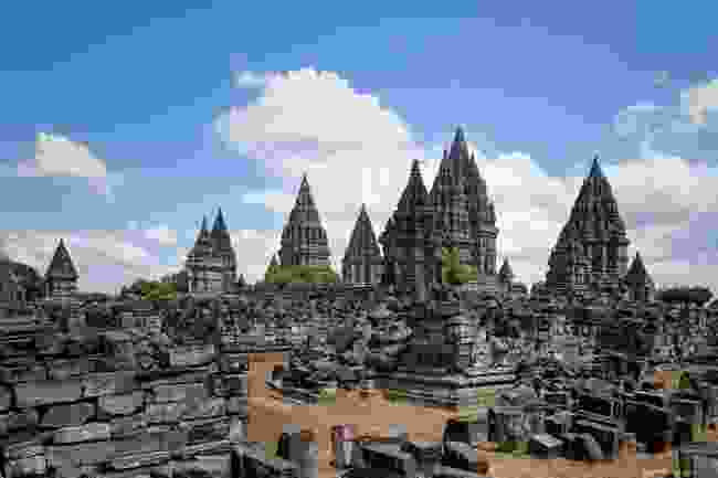 The main cluster of temples at Prambanan (Shutterstock)