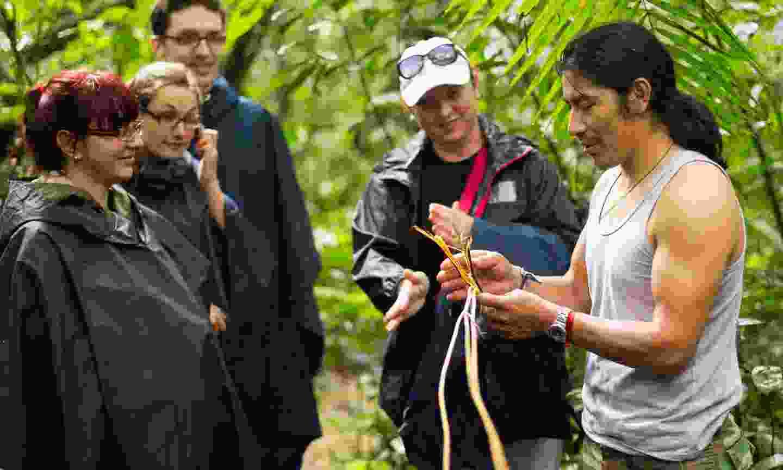 Local guide in Cuyabeno Wildlife Reserve Ecuador (Shutterstock)