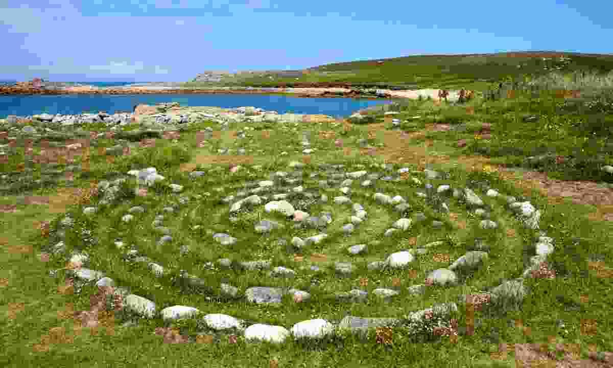 A stone maze, Bryher (Shutterstock)