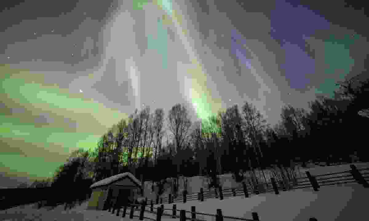 Northern lights in Fairbanks, Alaska