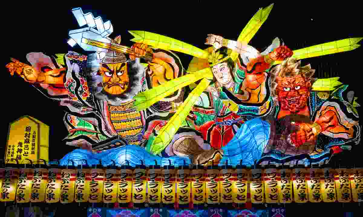 Lantern floats for Nebuta Festival parade through the city of Aomori in summer (Dreamstime)