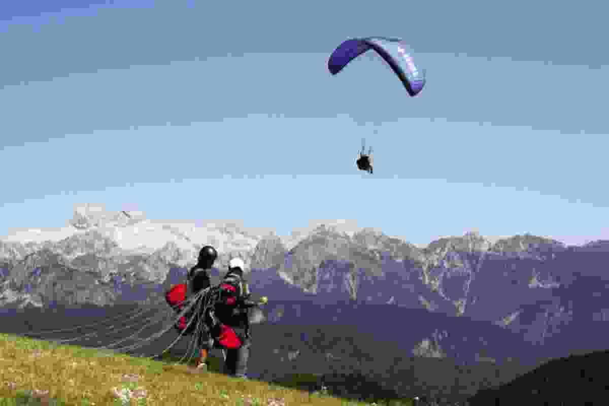 Paragliding in Bohinj (Slovenian Tourist Board)