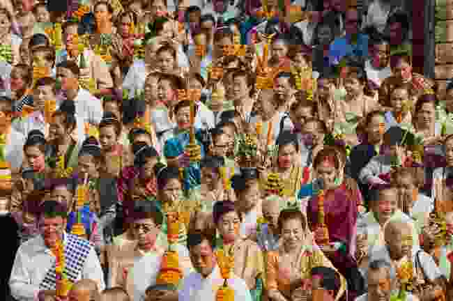 Locals in the procession at Lao New Year (Shutterstock)