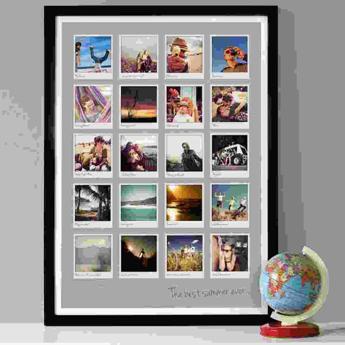 Framed polaroids (notonthehighstreet.com)