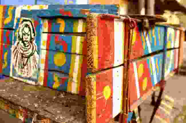 A colourfully-designed cart on the streets of Saint Louis, Senegal (Shutterstock)