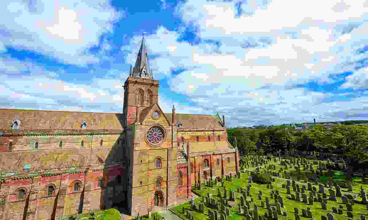 The red-bricked St Magnus Cathedral (Shutterstock)