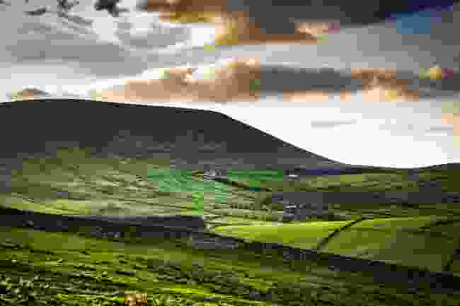 Scenic View On Pendle Hill At Springtime, Lancashire, England UK (Shutterstock)