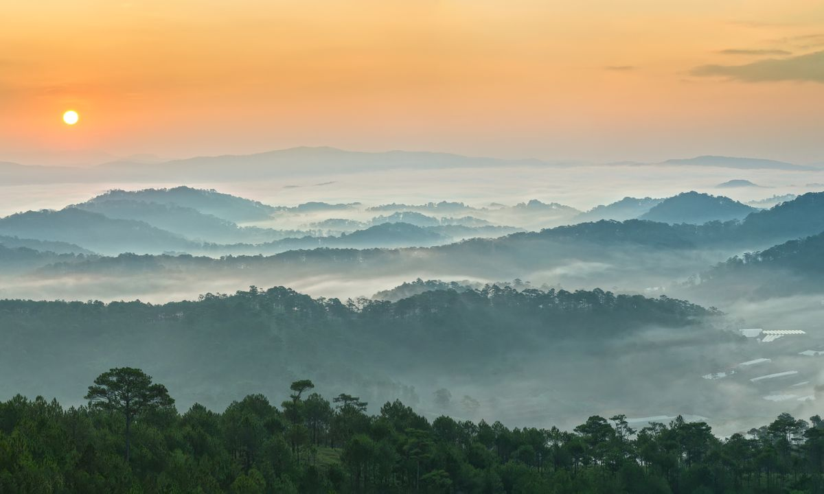 Sunrise over Dalat (Dreamstime)