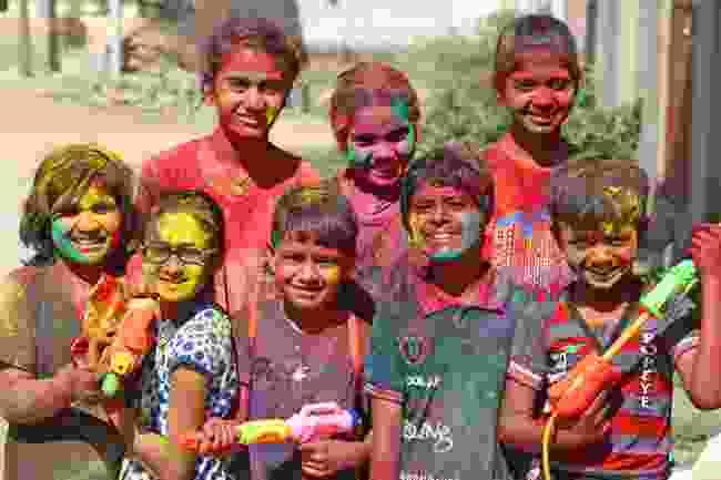 Children with water guns in Rajasthan, India (Sumit Saraswat/Shutterstock)