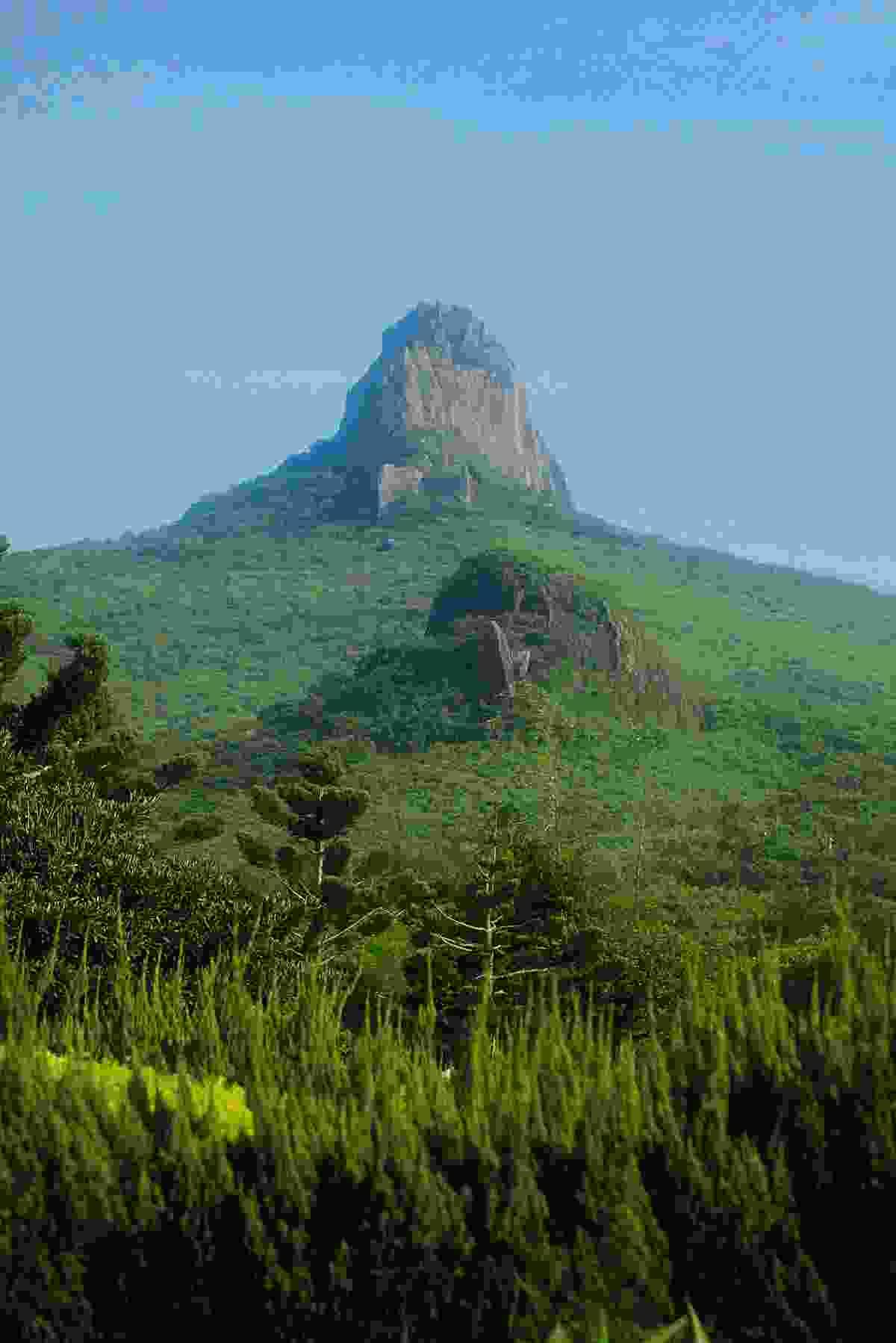 Gazing up at the pyramid-shaped Kenting Mountain (Mark Stratton)