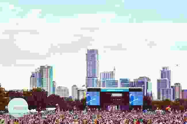 Austin City Limits Festival in Zilker Metropolitan Park (Shutterstock)