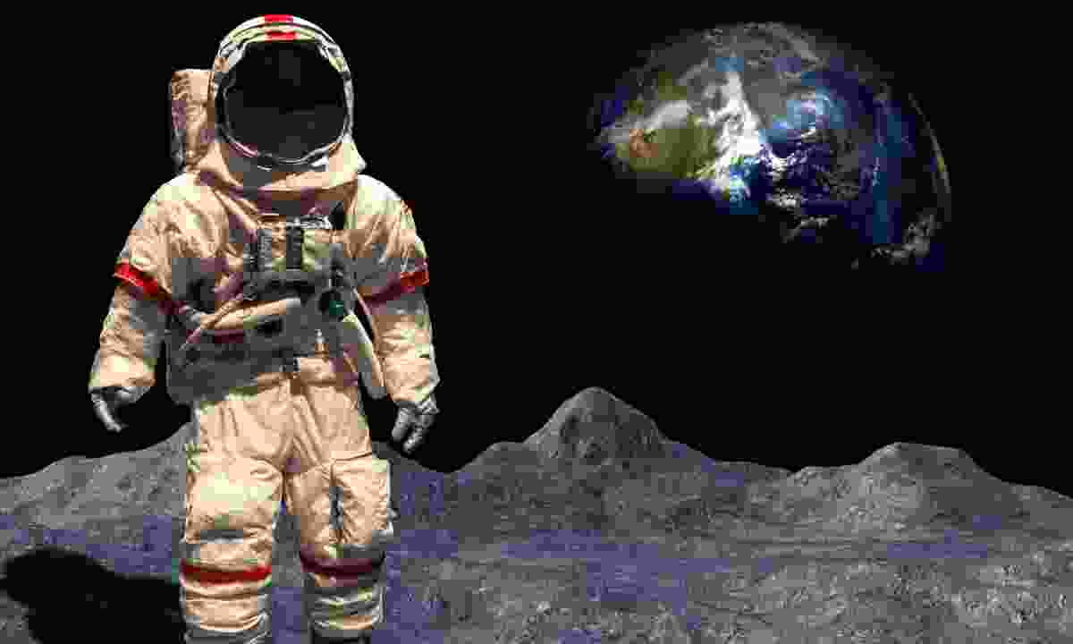 Recreation of first moon walk (Dreamstime)