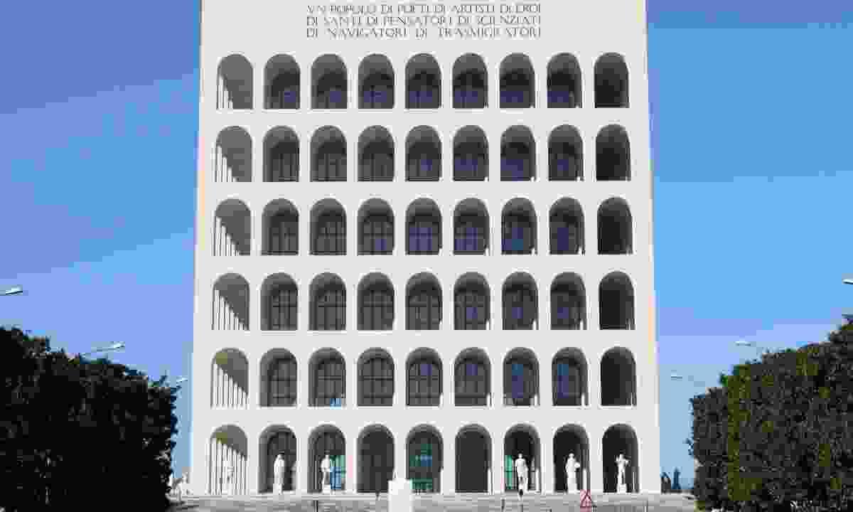 Squared Colosseum building in EUR (Dreamstime)