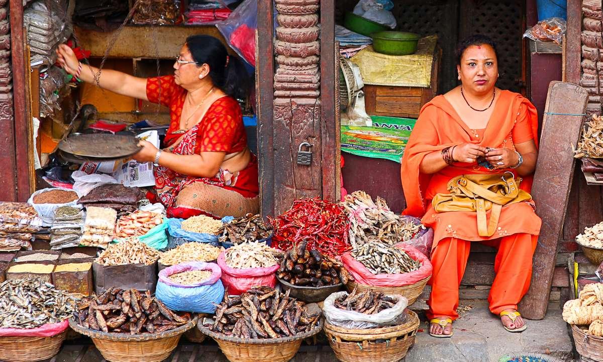 Local market in Nepal (Dreamstime)
