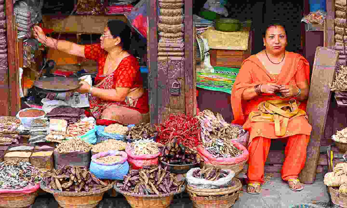 Local market in Nepal (Dreamstime)