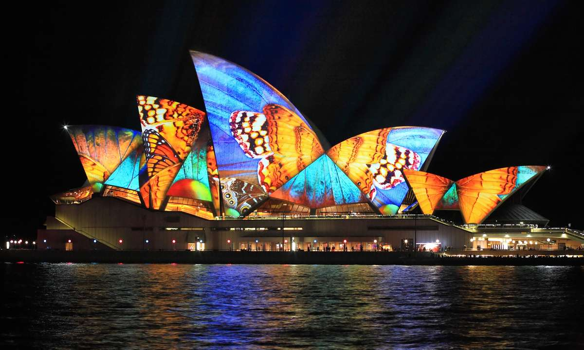 Sydney Opera House during Livid (Dreamstime)
