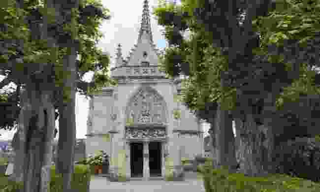 Leonardo Da Vinci's tomb in Saint Hubert Chapel (Dreamstime)