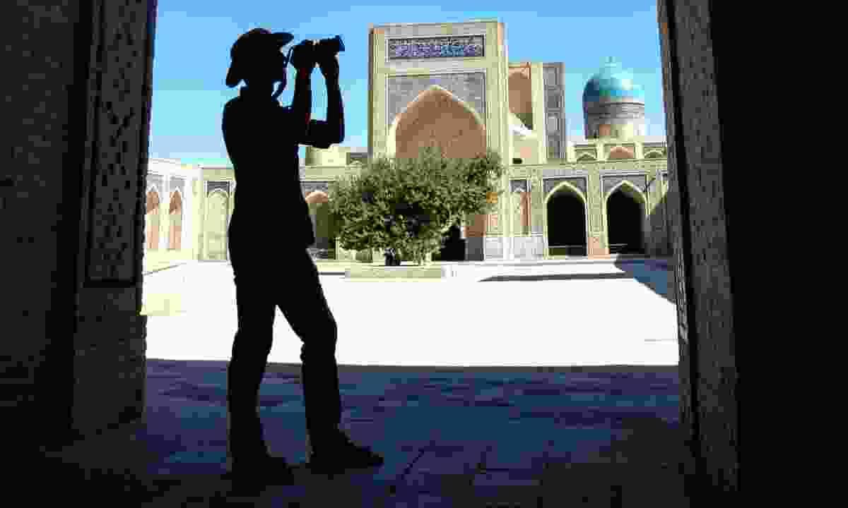 Inner courtyard of the Kalyan Mosque, Bukhara, Uzbekistan (Dreamstime)