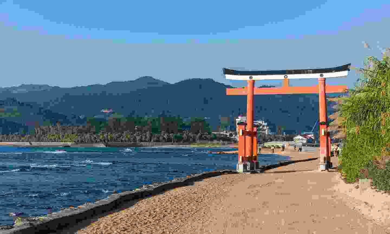 Tori gate leading to the beaches on Aoshima Island (Dreamstime)