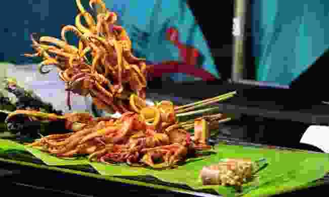 Fried tentacles - a popular Isarn snack (Shutterstock)