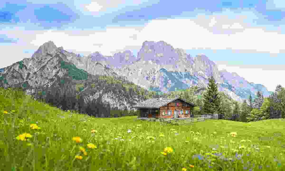 Alpine cabin in the Austrian Alps (Shutterstock)