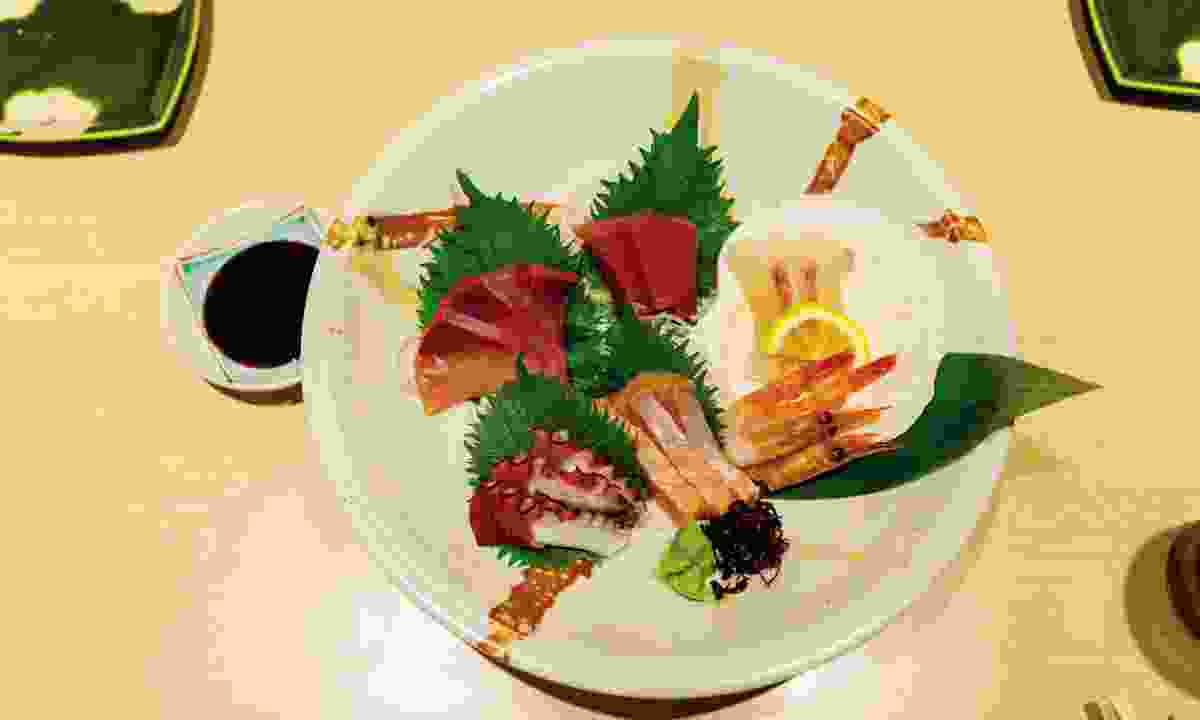 Sample traditional Japanese dishes (World Expeditions)